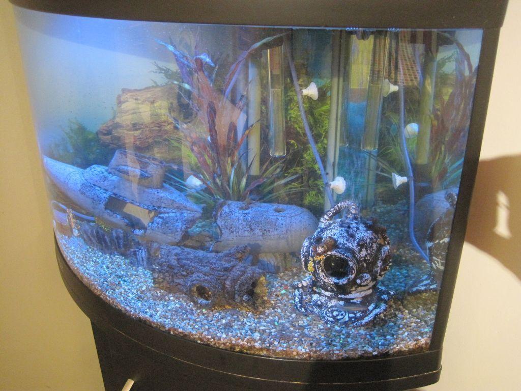 Cabinet aquarium fish tank tropical 60cm 2ft 100l - Corner Fish Tank Excellent Condition Ufo 550 100 Litre Aquarium Cabinet