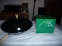 wok with lid and 1001 recipe card box