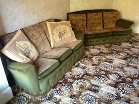 FREE ! 4 - PIECE SUITE , Two Armchairs, Two Settees
