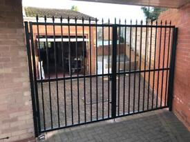 Metal steel gates