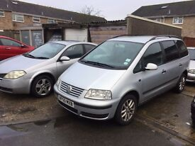 2005 Vw Sharan 1.9 TDi Diesel 7 seats 55 Plate Silver low millage 101000
