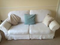 Fabric 3 seater & 2 seater sofas plus footstool for sale!