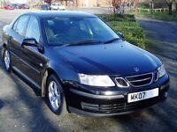 2007 Saab 9-3 Linear 1.9Tid. 6 Speed Manual. Cambelt changed. Service History. Mot Sept. Black 93.