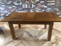 Toulouse extending oak dining table