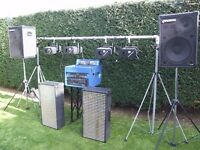 Complete Disco setup... twin CD player, digital lighting, speakers, including trailer plus CD's