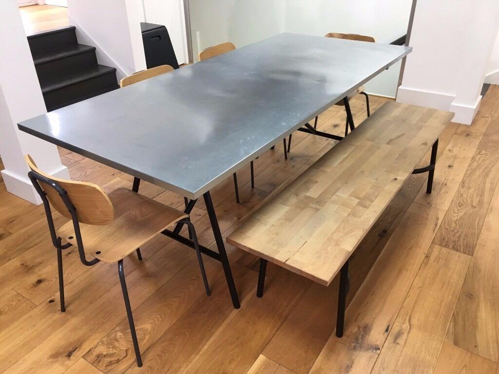 Habitat yeoman large zinc dining table rrp 395 sold for Table habitat