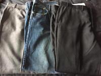 Men's 42 inch waist trousers/jeans