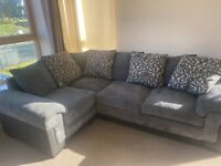 Grey and black 4 seater right hand corner sofa
