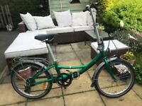"""Revolution Compact 7 speed folding Road bike,20"""" wheels/new swalbe tyres £40/mudguards"""