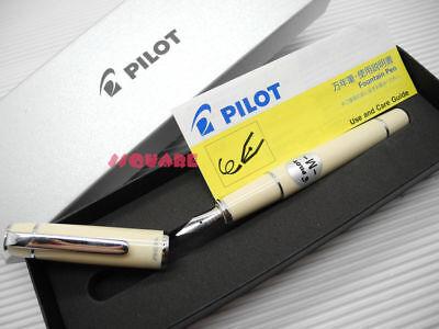 Pilot FPR-3SR Prera Medium Nib Fountain Pen Ivory w/ 6 Black ink cartridges