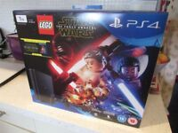 PlayStation 4 1TB Console with LEGO Star Wars: The Force Awakens Game + Blu-Ray Movie NEW
