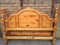*NEW* Solid Pine Wood 5ft king size bed