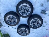 """Genuine Ford Rs Escort 13"""" 4 Spoke Alloy Wheels with 175/60 Tyres"""