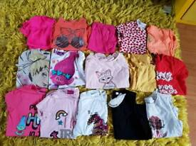 Girls T-shirt and Top bundle aged 6-7