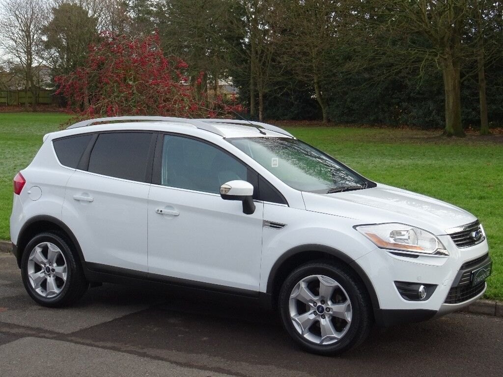 2009 59 ford kuga 2 0 tdci titanium 4x4 5dr frozen white four wheel drive in poole. Black Bedroom Furniture Sets. Home Design Ideas