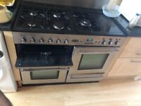 Rangemaster toledo 5 gas hob double electric oven and grill