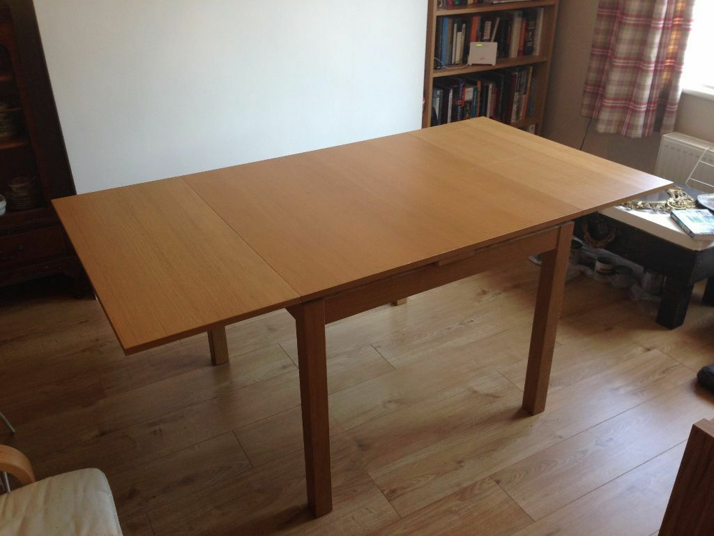 Dining Table IKEA BJURSTA Extendable Table Oak Veneer In Bath