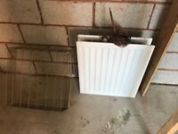New double radiator 700 x 600/8 metre remote fire valve/flue cage- all 3 for £40