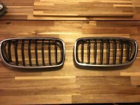 BMW F30 OEM grills immaculate