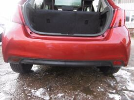 Toyota Yaris 2015 rear bumper red 3N8