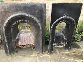 Cast iron fire place 2 sizes call John old retro