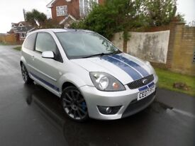 FORD FIESTA ST SILVER 2007 83,000 MILES HALF LEATHER SEATS 2 KEYS AVON TYRES