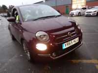 FIAT 500 0.9 TwinAir Lounge 3dr (red) 2015