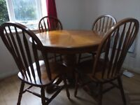 Dining Table + 4 Chairs...going cheap
