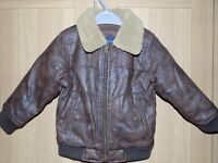 FAUX LEATHER FLYING JACKET - AGE 3