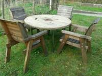 Handmade Industrial Reel Drum Garden or Patio Table