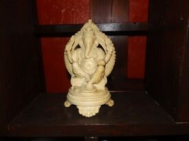 Large Lord Ganesh Hindu Statue - hand carved