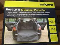 Car boot liner and bumper protector