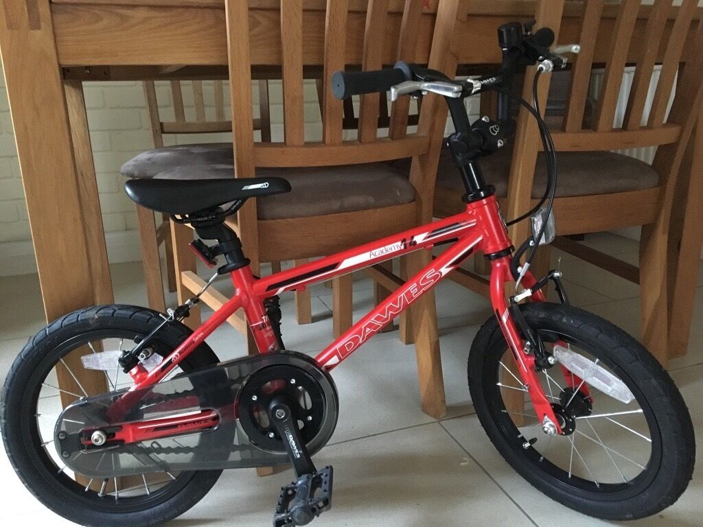 "Red Dawes 14"" Boys bike in excellent condition"