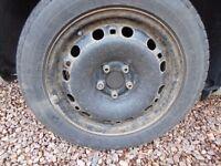 skoda fabia 2012 steel wheels 15 inch
