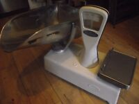 VINTAGE WEIGHTMASTER WEIGHING SCALES. WITH LARGE SCOOP. SOME AGE MARKS