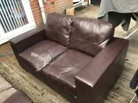 Free leather Sofas 3 seat and 2 seat for collection