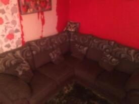 Sofa corners brown.