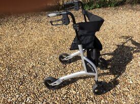 Elite Care lightweight 4 wheel folding mobility walker