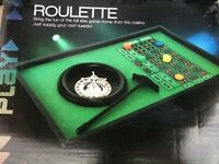 Table Top Roulette Spinning Wheel Home Board Gaming Play Chips casino GAMBLING