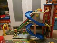 Kids garage with cars and mat