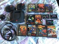 Atari Jaguar Console, 2 pads, leads, RGB, 6 BRAND NEW BOXED GAMES + LOOSE CARTS, AWESOME BUNDLE