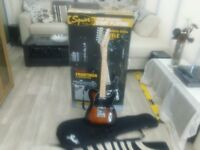 fender squire telecaster afinity series rosewood electric guitar