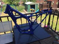 Yz 125/250 2 stroke road legal frame with logbook