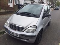 2001 Mercedes-Benz A ClassRECENTLY SERVICED. BRILLIANT DRIVE. Alarm, E/ W, (Radio/CD). SILVER.NO VAT