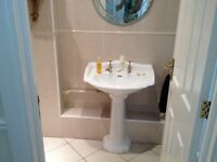 Stunning vintage style ceramic basin on pedestal - cleaned and in immaculate condition!