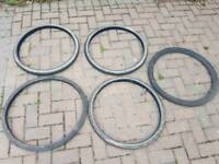 "5 Hybrid mountain bike tyres, 26"" inch"