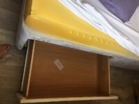Double bed with 1 drawer each side and mattress included great bargain !!!