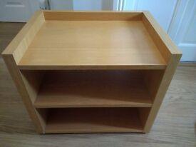 Low level Oak Veneered Telephone/Printer Table