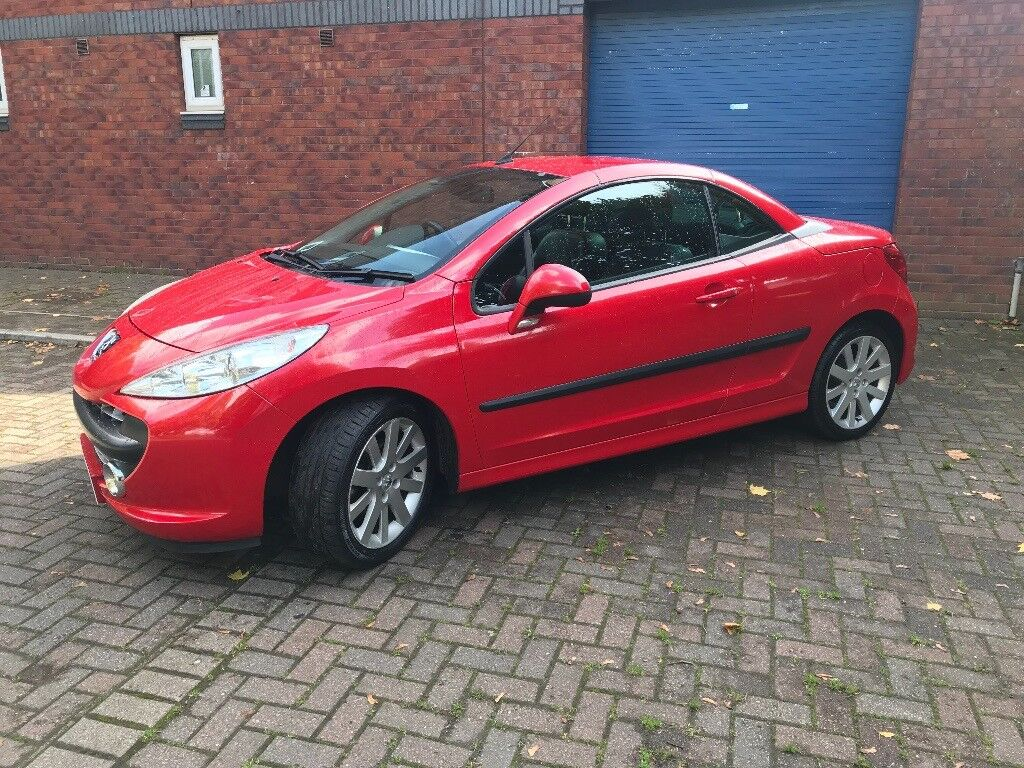 peugeot 207 cc 1 6 16v gt 2dr 2008 bright red 2 keys june. Black Bedroom Furniture Sets. Home Design Ideas