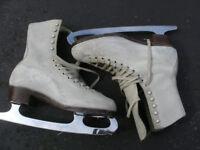 Ladies Ice Skates Leather Size 5.5